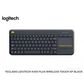 TECLADO LOGITECH K400 PLUS WIRELESS TOUCH SP BLACK