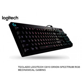 TECLADO LOGITECH G810 ORION SPECTRUM RGB MECHANICAL GAMING