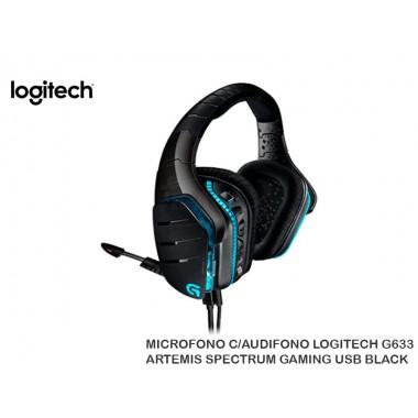 MICROFONO C/AUDIFONO LOGITECH G633 ARTEMIS SPECTRUM GAMING USB BLACK