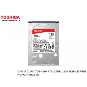 DISCO DURO TOSHIBA 1TB 2.5HD L200 MOBILE P/NB HDWJ110UZSVA