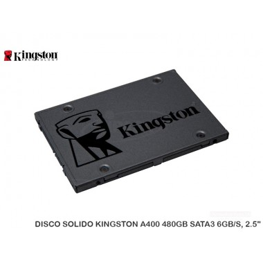 DISCO SOLIDO KINGSTON A400 480GB SATA3 6GB/S, 2.5""