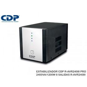 ESTABILIZADOR CDP R-AVR2408I PRO 2400VA/1200W 8 SALIDAS R-AVR2408I
