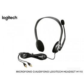 MICROFONO C/AUDIFONO LOGITECH HEADSET H110