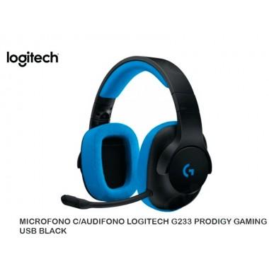 MICROFONO C/AUDIFONO LOGITECH G233 PRODIGY GAMING USB BLACK