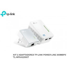 KIT 2 ADAPTADORES TP-LINK POWER LINE 300MBPS TL-WPA4220KIT