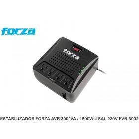 ESTABILIZADOR FORZA AVR 3000VA / 1500W 4 SAL 220V FVR-3002