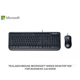 TECLADO+MOUSE MICROSOFT WIRED DESKTOP 600 FOR BUSINESS 3J2-00008