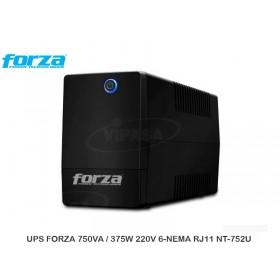 UPS FORZA 750VA / 375W 220V 6-NEMA RJ11 NT-752U