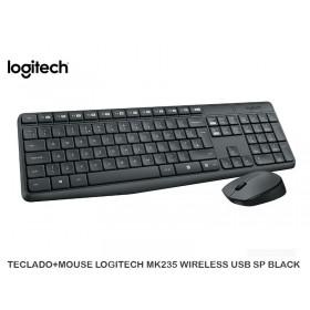 TECLADO+MOUSE LOGITECH MK235 WIRELESS USB SP BLACK
