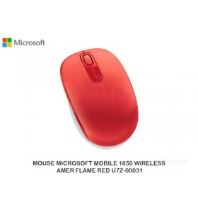 MOUSE MICROSOFT MOBILE 1850 WIRELESS AMER FLAME RED U7Z-00031