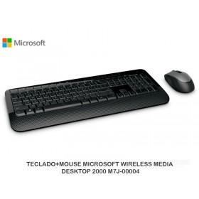 TECLADO+MOUSE MICROSOFT WIRELESS MEDIA DESKTOP 2000 M7J-00004