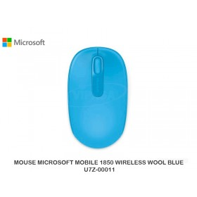 MOUSE MICROSOFT MOBILE 1850 WIRELESS WOOL BLUE U7Z-00011