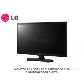 """MONITOR LG LED/TV 23.6"""" 24MT48DF-PS HD C/SINTONIZADOR DIGITAL"""