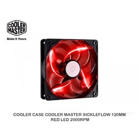 COOLER CASE COOLER MASTER SICKLEFLOW 120MM RED LED 2000RPM