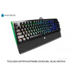 TECLADO ANTRYX EXTREME ZIGRA MK, BLUE SWITCH