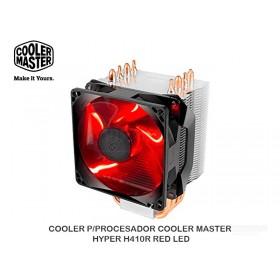 COOLER P/PROCESADOR COOLER MASTER HYPER H410R RED LED