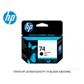 TINTA HP J5780/C4240 Nº 74 BLACK CB335WL