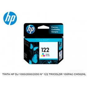 TINTA HP DJ 1000/2000/2050 N° 122 TRICOLOR 100PAG CH562HL