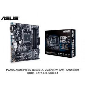 PLACA ASUS PRIME B350M-A, VD/SN/NW, AM4, AMD B350, DDR4, SATA 6.0, USB 3.1