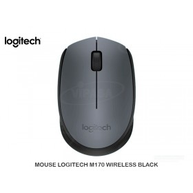 MOUSE LOGITECH M170 WIRELESS BLACK