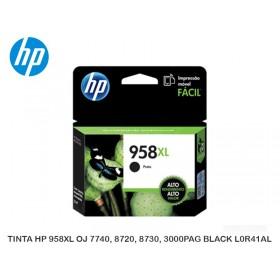 TINTA HP 958XL OJ 7740, 8720, 8730, 3000PAG BLACK L0R41AL