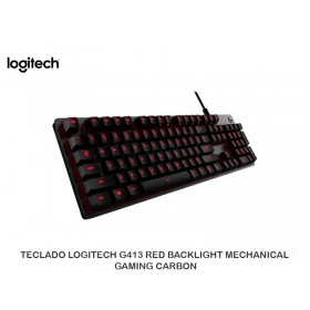 TECLADO LOGITECH G413 RED BACKLIGHT MECHANICAL GAMING CARBON