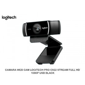 CAMARA WEB CAM LOGITECH PRO C922 STREAM FULL HD 1080P USB BLACK