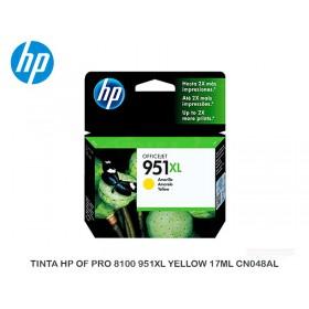 TINTA HP OF PRO 8100 951XL YELLOW 17ML CN048AL