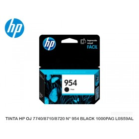TINTA HP OJ 7740/8710/8720 N° 954 BLACK 1000PAG L0S59AL