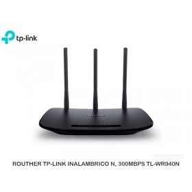 ROUTHER TP-LINK INALAMBRICO N, 300MBPS TL-WR940N