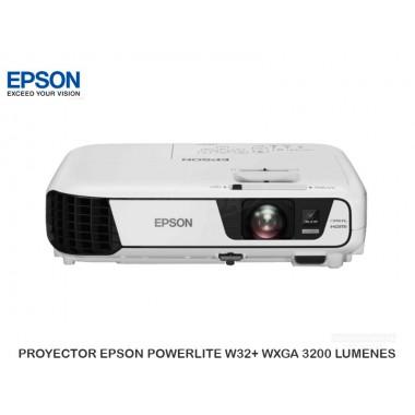 PROYECTOR EPSON POWERLITE W32+ WXGA 3200 LUMENES