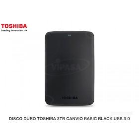 DISCO DURO TOSHIBA 3TB CANVIO BASIC BLACK USB 3.0