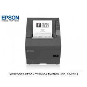 IMPRESORA EPSON TERMICA TM-T88V USB, RS-232:1
