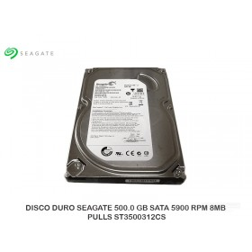 DISCO DURO SEAGATE 500.0 GB SATA 5900 RPM 8MB PULLS ST3500312CS