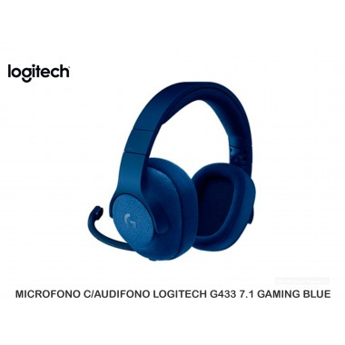 MICROFONO C/AUDIFONO LOGITECH G433 7.1 GAMING BLUE