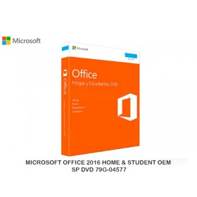 MICROSOFT OFFICE 2016 HOME & STUDENT OEM SP DVD 79G-04577