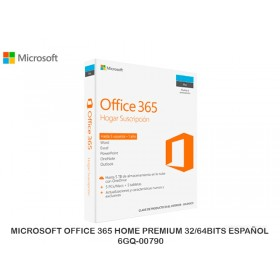 MICROSOFT OFFICE 365 HOME PREMIUM 32/64BITS ESPAÑOL 6GQ-00790