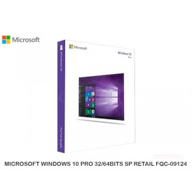 MICROSOFT WINDOWS 10 PRO 32/64BITS SP RETAIL FQC-09124