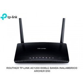 ROUTHER TP-LINK AC1200 DOBLE BANDA INALAMBRICO ARCHER D50