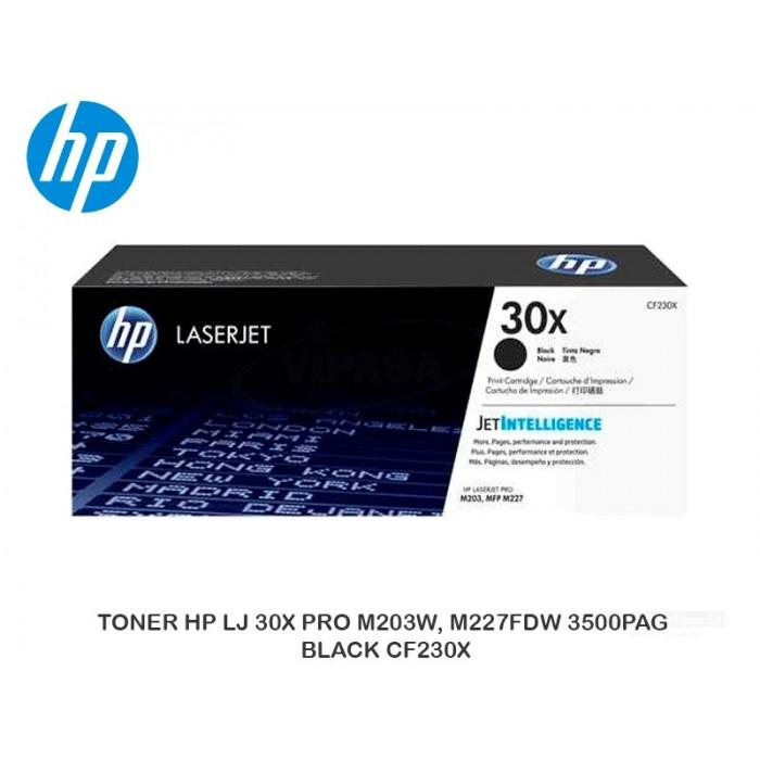 TONER HP LJ 30X PRO M203W, M227FDW 3500PAG BLACK CF230X