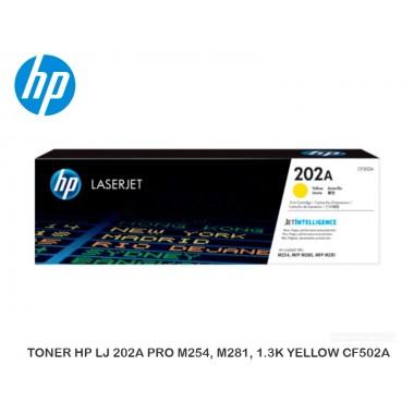TONER HP LJ 202A PRO M254, M281, 1.3K YELLOW CF502A