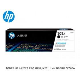 TONER HP LJ 202A PRO M254, M281, 1.4K NEGRO CF500A