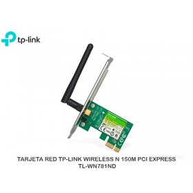 TARJETA RED TP-LINK WIRELESS N 150M PCI EXPRESS TL-WN781ND