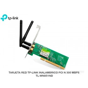 TARJETA RED TP-LINK INALAMBRICO PCI N 300 MBPS TL-WN851ND