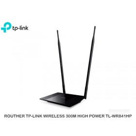 ROUTHER TP-LINK WIRELESS 300M HIGH POWER TL-WR841HP