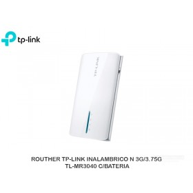 ROUTHER TP-LINK INALAMBRICO N 3G/3.75G TL-MR3040 C/BATERIA