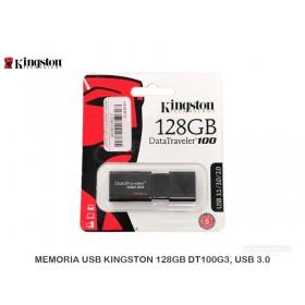 MEMORIA USB KINGSTON 128GB DT100G3, USB 3.0