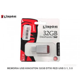 MEMORIA USB KINGSTON 32GB DT50 32GB RED USB 3.1, 3.0