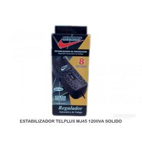 ESTABILIZADOR TELPLUS MJ45 1200VA SOLIDO