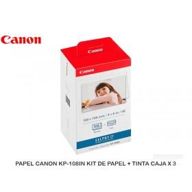 PAPEL CANON KP-108IN KIT DE PAPEL + TINTA CAJA X 3